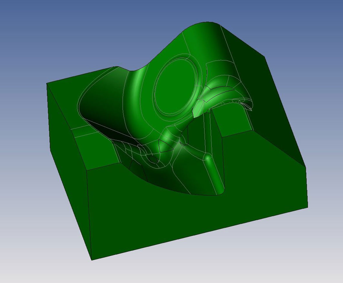 Aktivteil 3D-Modell CAD CAM