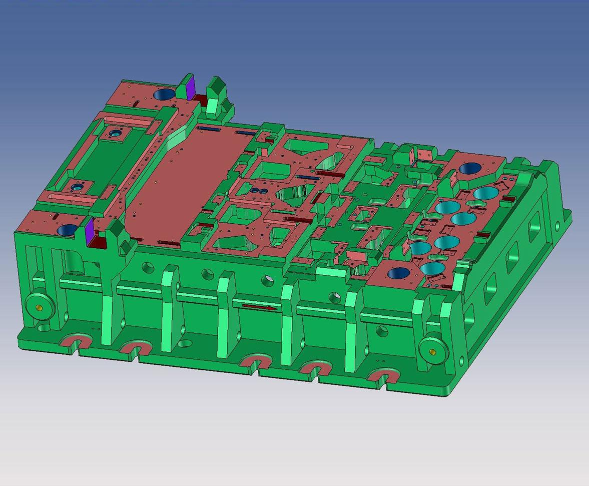 Modell eines Stanz- und Umformwerkzeugs für Strukturteile CAD CAM